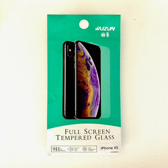 For iPhone Xs Max Tempered Glass Screen Protector [2 in a pack] Full Screen 9H