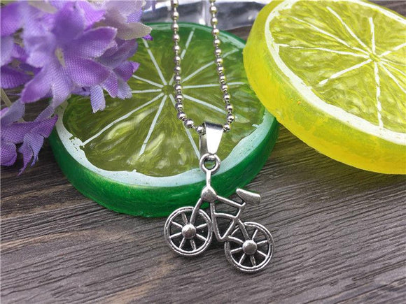Stainless Steel Bicycle Fashion Necklace - Synonyco.com