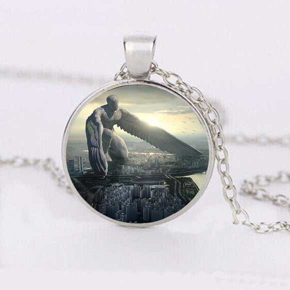 Long Wings Giant Cabochon Necklace - Synonyco.com