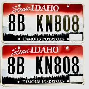 Idaho License Plate Pair 8B KN808
