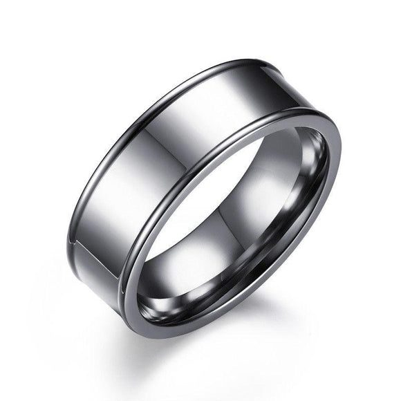 8MM Stainless Steel Wedding Engagement Band Ring - Synonyco.com
