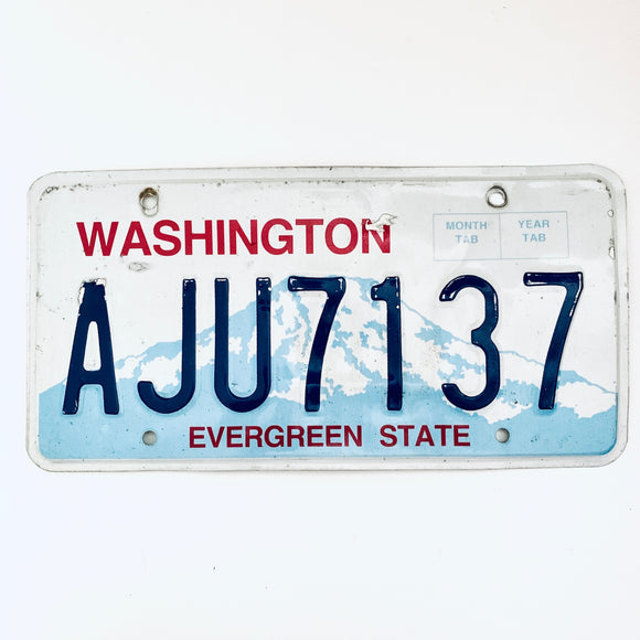 Washington License Plate AJU7137