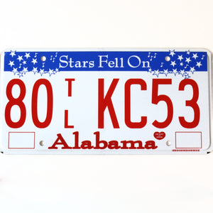 Alabama License Plate 80 TL KC53