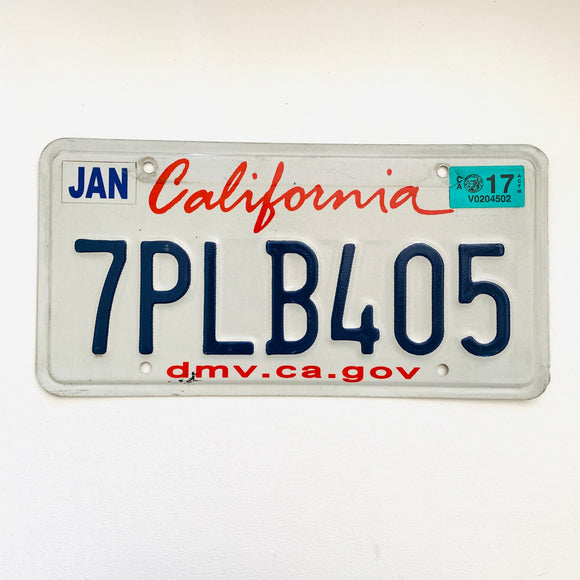 California Lipstick License Plate 7PLB405