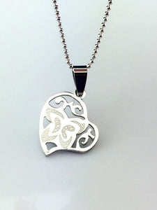 Stainless Steel Heart Necklace - Synonyco.com