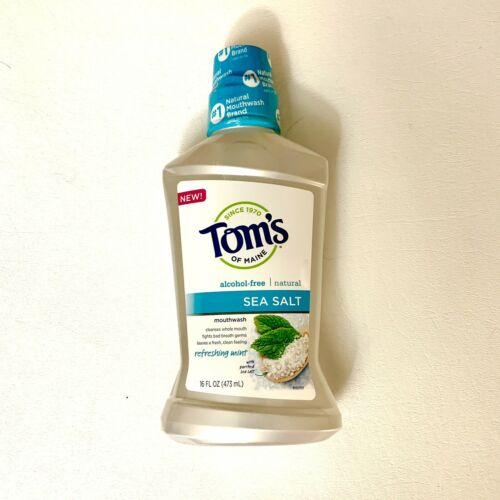 Tom's of Maine Mouthwash Sea Salt Alcohol Free 16 fl oz. Refreshing Mint
