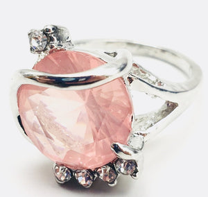 Pink Gemstone Fashion Ring Size 8 - Synonyco.com
