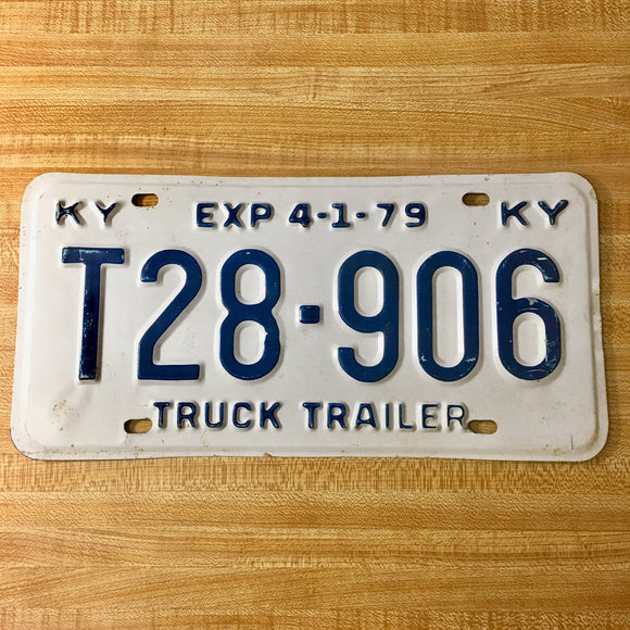1979 Kentucky License Plate T28-906