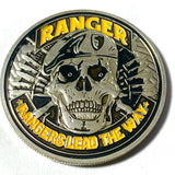 United States Army Rangers Silver Challenge Coin - Synonyco.com