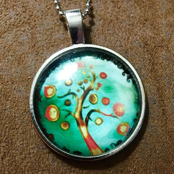 Tree of Life Cabochon Necklace - Synonyco.com