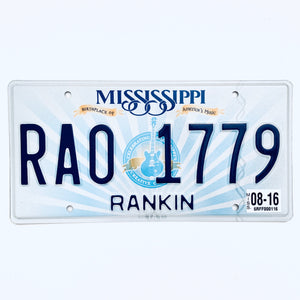2016 Mississippi License Plate RA0 1779