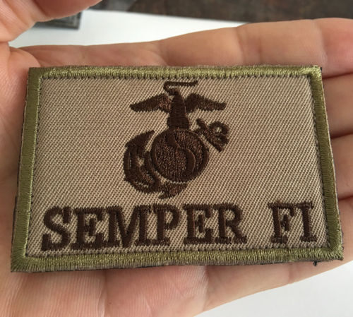 USMC Semper Fi Embroidered Tactical Patch 3 x 2 - Synonyco.com