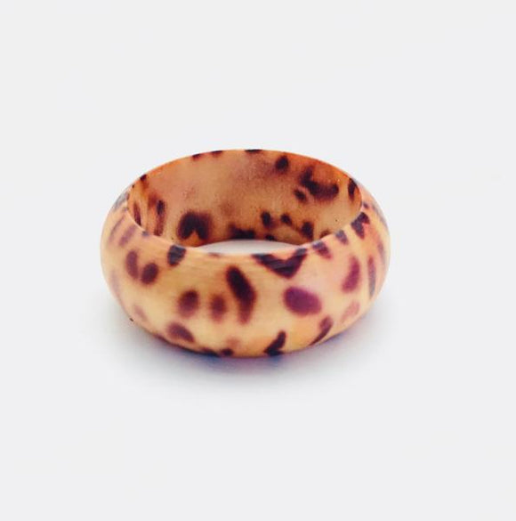 Leopard Print Wooden Ring - Synonyco.com