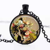 Apple Blossom Cabochon Necklace - Synonyco.com