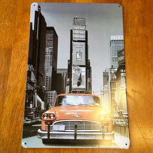 New York Tin Metal Sign 8x12 - Synonyco.com