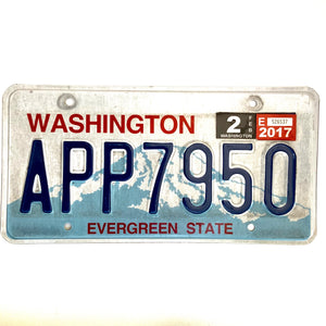 2017 Washington License Plate APP7950