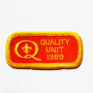 1989 Vintage Quality Unit Scout Patch - Synonyco.com
