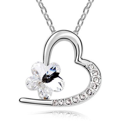 Crystal Star Heart Necklace - Synonyco.com