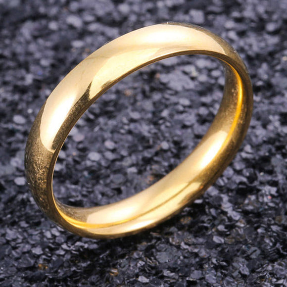 4mm Gold Stainless Steel Ring - Synonyco.com