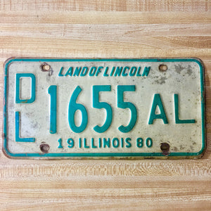 1980 Illinois Dealer License Plate DL 1655 AL - Synonyco.com