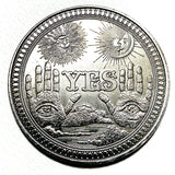 Lucky Yes No Silver Flip Challenge Coin