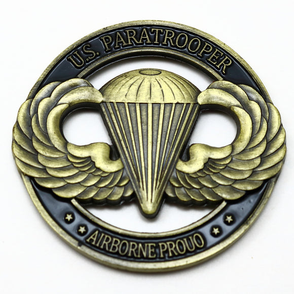 United States Paratrooper Challenge Coin