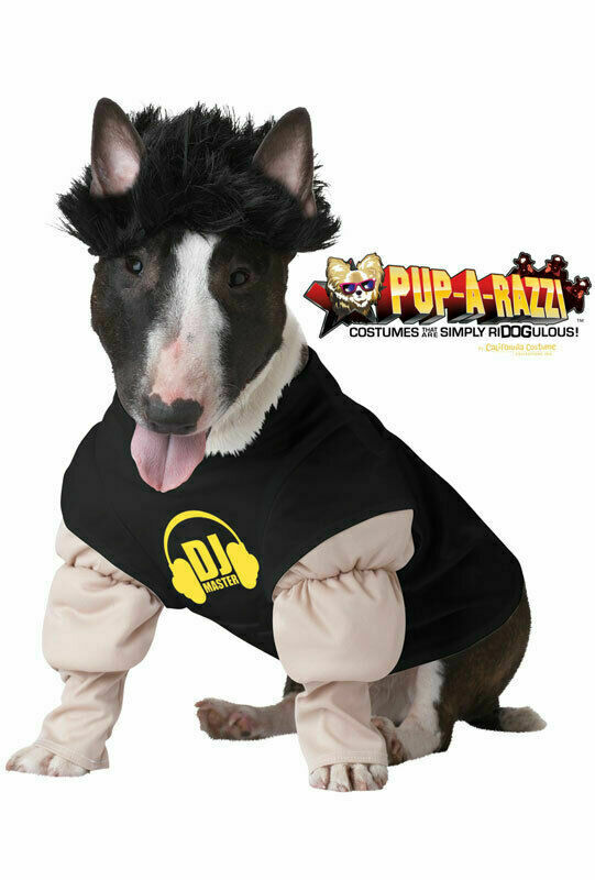 Brand New DJ Master Spinning Record Dog Pet Costume X-Small
