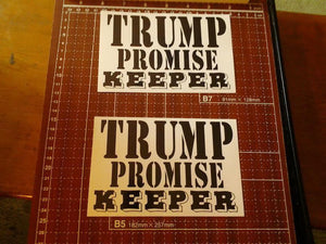 Trump Promise Keeper Vinyl Bumper Sticker - Synonyco.com