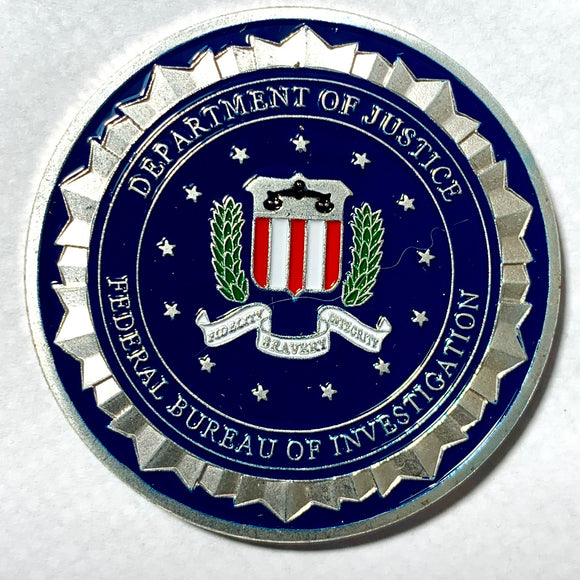 Department of Justice Federal Bureau Of Investigation Challenge Coin - Synonyco.com
