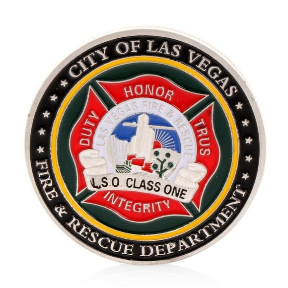 Las Vegas Fire Department LVFD Challenge Coin