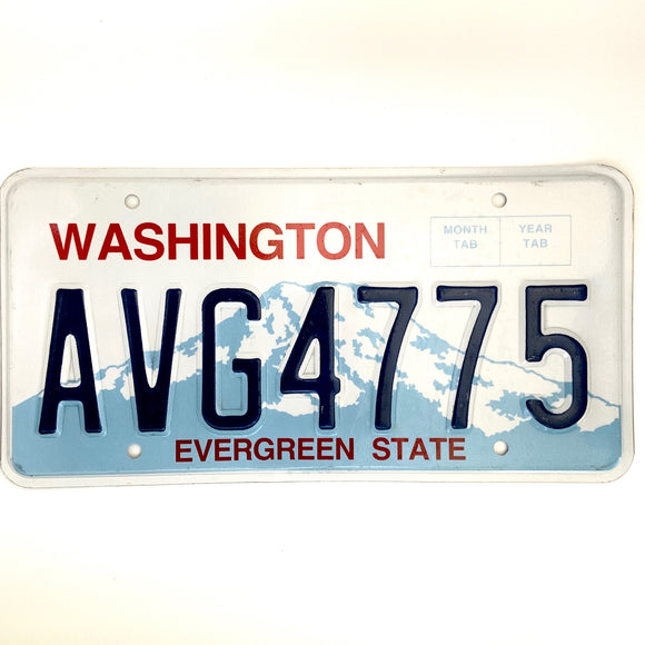 Washington License Plate AVG4775