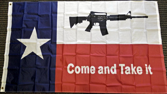 Texas Come And Take It 3'x5' Indoor/Outdoor Flag - Synonyco.com