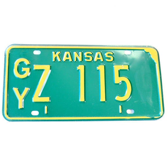 1973 Kansas Gray County License Plate Z 115 - Synonyco.com