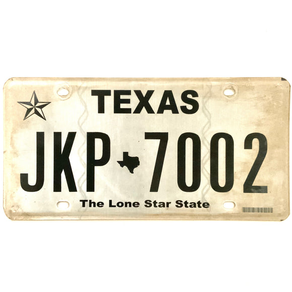 Texas License Plate JKP 7002