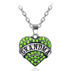 Green Heart Grandma Necklace - Synonyco.com