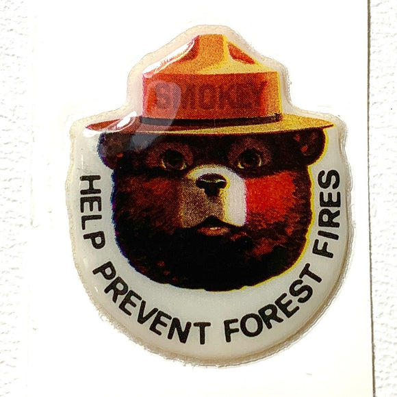 Vintage Smokey The Bear Vinyl Sticker - Synonyco.com