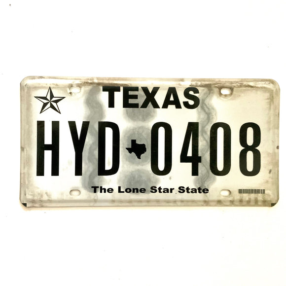 Texas License Plate HYD 0408