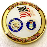 Proud Military Family Challenge Coin