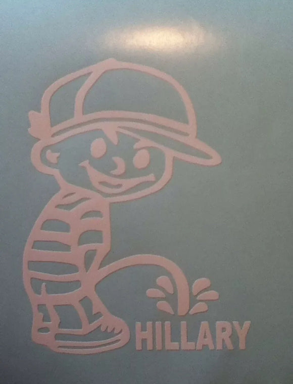 Anti-Hillary Calvin and Hobbs Window Decal - Synonyco.com