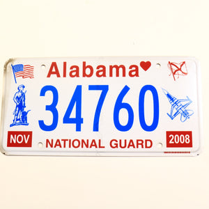 Alabama License Plate 34760