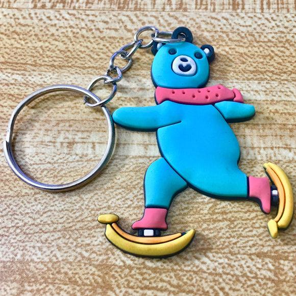 Skating Banana Bear Key Chain - Synonyco.com
