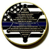 "Police Officer ""Make No Mistake"" Challenge Coin - Synonyco.com"