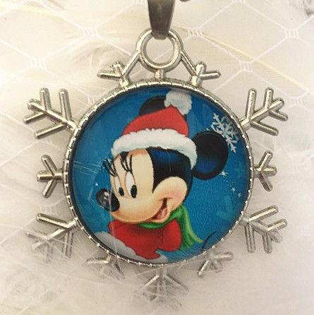 Disney Mickey Mouse Snowflake Necklace - Synonyco.com