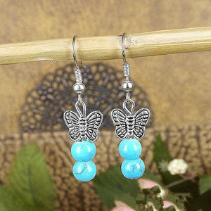 Butterfly Turquoise Fashion Earrings