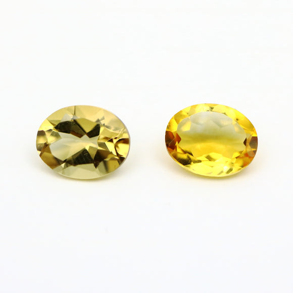 Oval Cut Citrine Gemstone 3.21ct 7mm x 9mm (Qty 2) - Synonyco.com