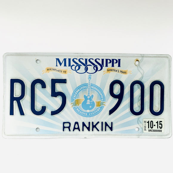 2015 Mississippi License Plate RC5 900