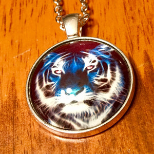 Tiger Glass Cabochon Necklace - Synonyco.com