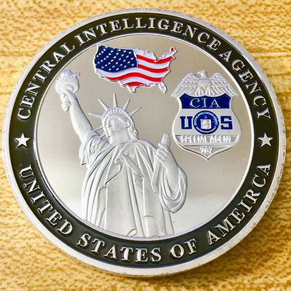 US Central Intelligence Agency Silent Warrior Challenge Coin