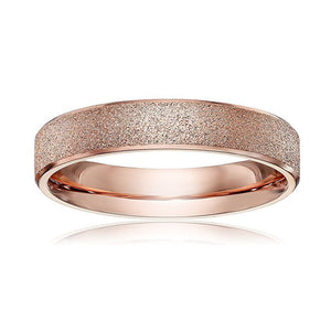 4mm Frosted Gold Stainless Steel Ring - Synonyco.com