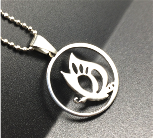 Stainless Steel Butterfly Necklace - Synonyco.com